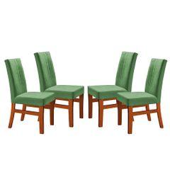Kit-4-Cadeiras-de-Jantar-Estofada-Verde-em-Veludo-Duz