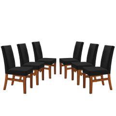 Kit-6-Cadeiras-de-Jantar-Estofada-Preta-em-Veludo-Duz