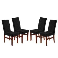 Kit-4-Cadeiras-de-Jantar-Estofada-Preta-em-Veludo-Elmas