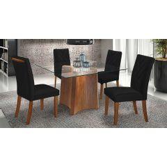 Kit-4-Cadeiras-de-Jantar-Estofada-Preta-em-Veludo-Elmas---Ambiente