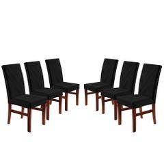 Kit-6-Cadeiras-de-Jantar-Estofada-Preta-em-Veludo-Elmas