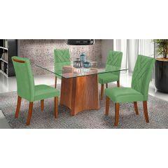 Kit-6-Cadeiras-de-Jantar-Estofada-Verde-em-Veludo-Elmas---Ambiente