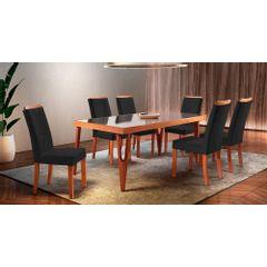 Kit-2-Cadeiras-de-Jantar-Estofada-Preta-em-Veludo-Hatlar---Ambiente