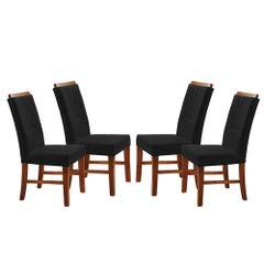 Kit-4-Cadeiras-de-Jantar-Estofada-Preta-em-Veludo-Hatlar