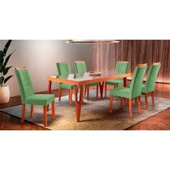 Kit-4-Cadeiras-de-Jantar-Estofada-Verde-em-Veludo-Hatlar---Ambiente