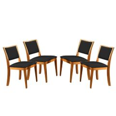 Kit-4-Cadeiras-de-Jantar-Estofada-Preta-em-Veludo-Kalip