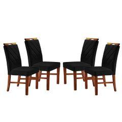 Kit-4-Cadeiras-de-Jantar-Estofada-Preta-em-Veludo-Kare