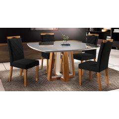 Kit-4-Cadeiras-de-Jantar-Estofada-Preta-em-Veludo-Kare---Ambiente