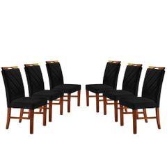 Kit-6-Cadeiras-de-Jantar-Estofada-Preta-em-Veludo-Kare