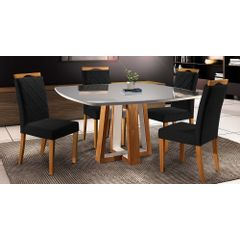 Kit-6-Cadeiras-de-Jantar-Estofada-Preta-em-Veludo-Kare---Ambiente