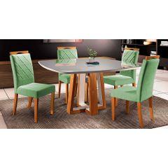 Kit-6-Cadeiras-de-Jantar-Estofada-Verde-em-Veludo-Kare---Ambiente