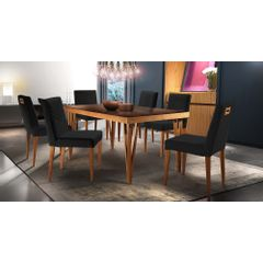 Kit-2-Cadeiras-de-Jantar-Estofada-Preta-em-Veludo-Kurs---Ambiente