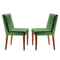 Kit-2-Cadeiras-de-Jantar-Estofada-Verde-em-Veludo-Kurs
