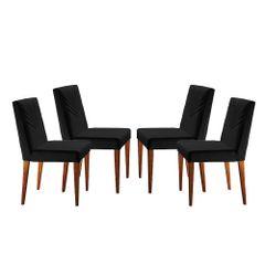 Kit-4-Cadeiras-de-Jantar-Estofada-Preta-em-Veludo-Kurs