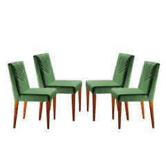 Kit-4-Cadeiras-de-Jantar-Estofada-Verde-em-Veludo-Kurs