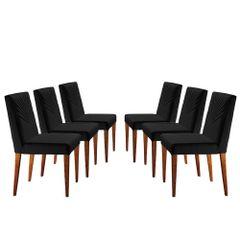 Kit-6-Cadeiras-de-Jantar-Estofada-Preta-em-Veludo-Kurs