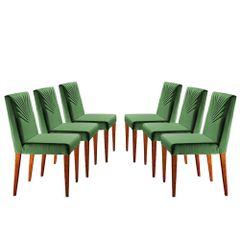 Kit-6-Cadeiras-de-Jantar-Estofada-Verde-em-Veludo-Kurs