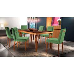 Kit-6-Cadeiras-de-Jantar-Estofada-Verde-em-Veludo-Kurs---Ambiente
