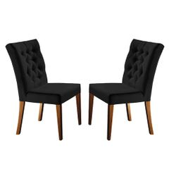 Kit-2-Cadeiras-de-Jantar-Estofada-Preta-em-Veludo-Sedye