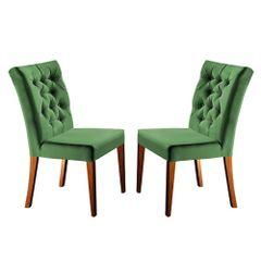 Kit-2-Cadeiras-de-Jantar-Estofada-Verde-em-Veludo-Sedye