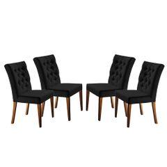 Kit-4-Cadeiras-de-Jantar-Estofada-Preta-em-Veludo-Sedye