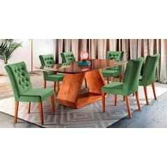 Kit-4-Cadeiras-de-Jantar-Estofada-Verde-em-Veludo-Sedye---Ambiente