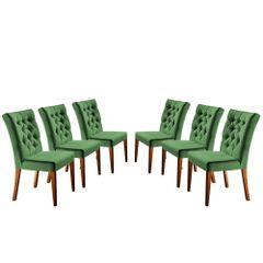 Kit-6-Cadeiras-de-Jantar-Estofada-Verde-em-Veludo-Sedye