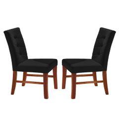 Kit-2-Cadeiras-de-Jantar-Estofada-Preta-em-Veludo-Sirt