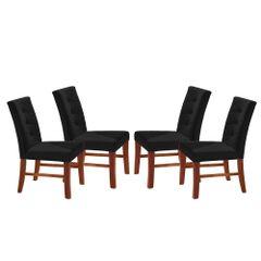 Kit-4-Cadeiras-de-Jantar-Estofada-Preta-em-Veludo-Sirt
