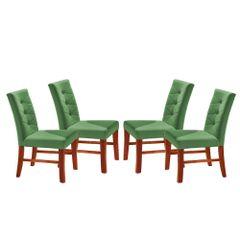 Kit-4-Cadeiras-de-Jantar-Estofada-Verde-em-Veludo-Sirt