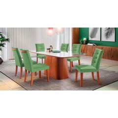 Kit-4-Cadeiras-de-Jantar-Estofada-Verde-em-Veludo-Sirt---Ambiente