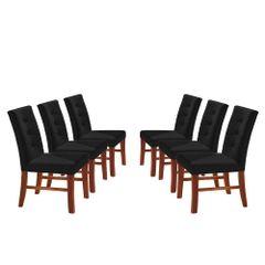 Kit-6-Cadeiras-de-Jantar-Estofada-Preta-em-Veludo-Sirt