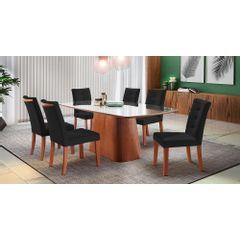 Kit-6-Cadeiras-de-Jantar-Estofada-Preta-em-Veludo-Sirt---Ambiente