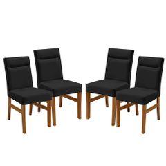 Kit-4-Cadeiras-de-Jantar-Estofada-Preta-em-Veludo-Temel