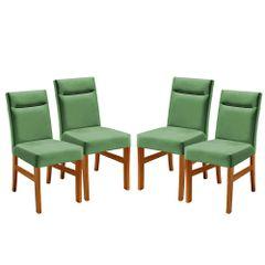 Kit-4-Cadeiras-de-Jantar-Estofada-Verde-em-Veludo-Temel