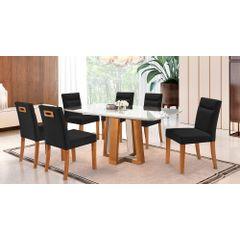 Kit-6-Cadeiras-de-Jantar-Estofada-Preta-em-Veludo-Temel---Ambiente