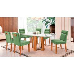Kit-6-Cadeiras-de-Jantar-Estofada-Verde-em-Veludo-Temel---Ambiente