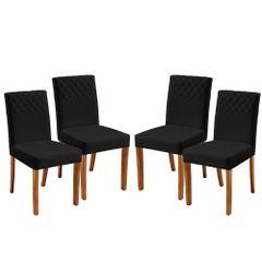 Kit-4-Cadeiras-de-Jantar-Estofada-Preta-em-Veludo-Yarim