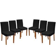 Kit-6-Cadeiras-de-Jantar-Estofada-Preta-em-Veludo-Yarim