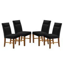 Kit-4-Cadeiras-de-Jantar-Estofada-Preta-em-Veludo-Yastik