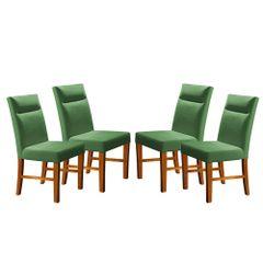 Kit-4-Cadeiras-de-Jantar-Estofada-Verde-em-Veludo-Yastik