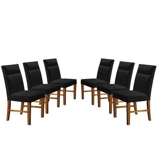 Kit-6-Cadeiras-de-Jantar-Estofada-Preta-em-Veludo-Yastik