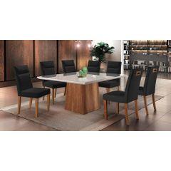 Kit-6-Cadeiras-de-Jantar-Estofada-Preta-em-Veludo-Yastik---Ambiente