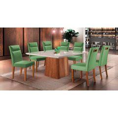 Kit-6-Cadeiras-de-Jantar-Estofada-Verde-em-Veludo-Yastik---Ambiente