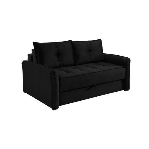 Sofa-Cama-2-Lugares-Preto-em-Veludo-161m-Colmar