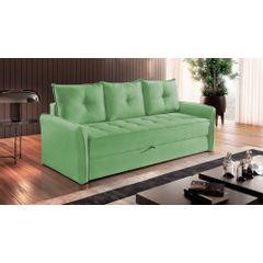 Sofa-Cama-3-Lugares-Verde-em-Veludo-213m-Bled-Ambiente