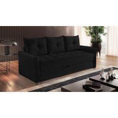 Sofa-Cama-3-Lugares-Preto-em-Veludo-213m-Bled-Ambiente