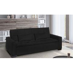 Sofa-Cama-3-Lugares-Preto-em-Veludo-217m-Burano-Ambiente