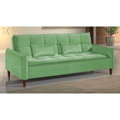 Sofa-Cama-3-Lugares-Verde-em-Veludo-210m-Roisey-Ambiente