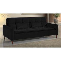 Sofa-Cama-3-Lugares-Preto-em-Veludo-210m-Roisey-Ambiente